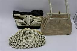 Lot Of 3 Vintage Purses Whiting  Davis Others