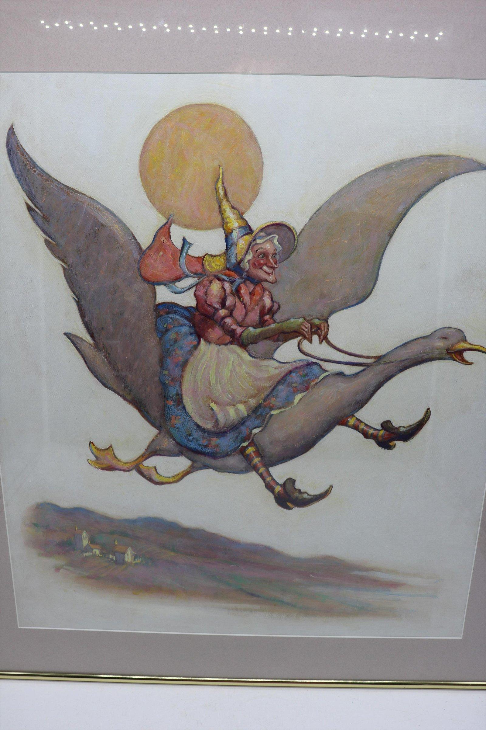 Original Oil Painting, Nursery Illustration Scott Cook