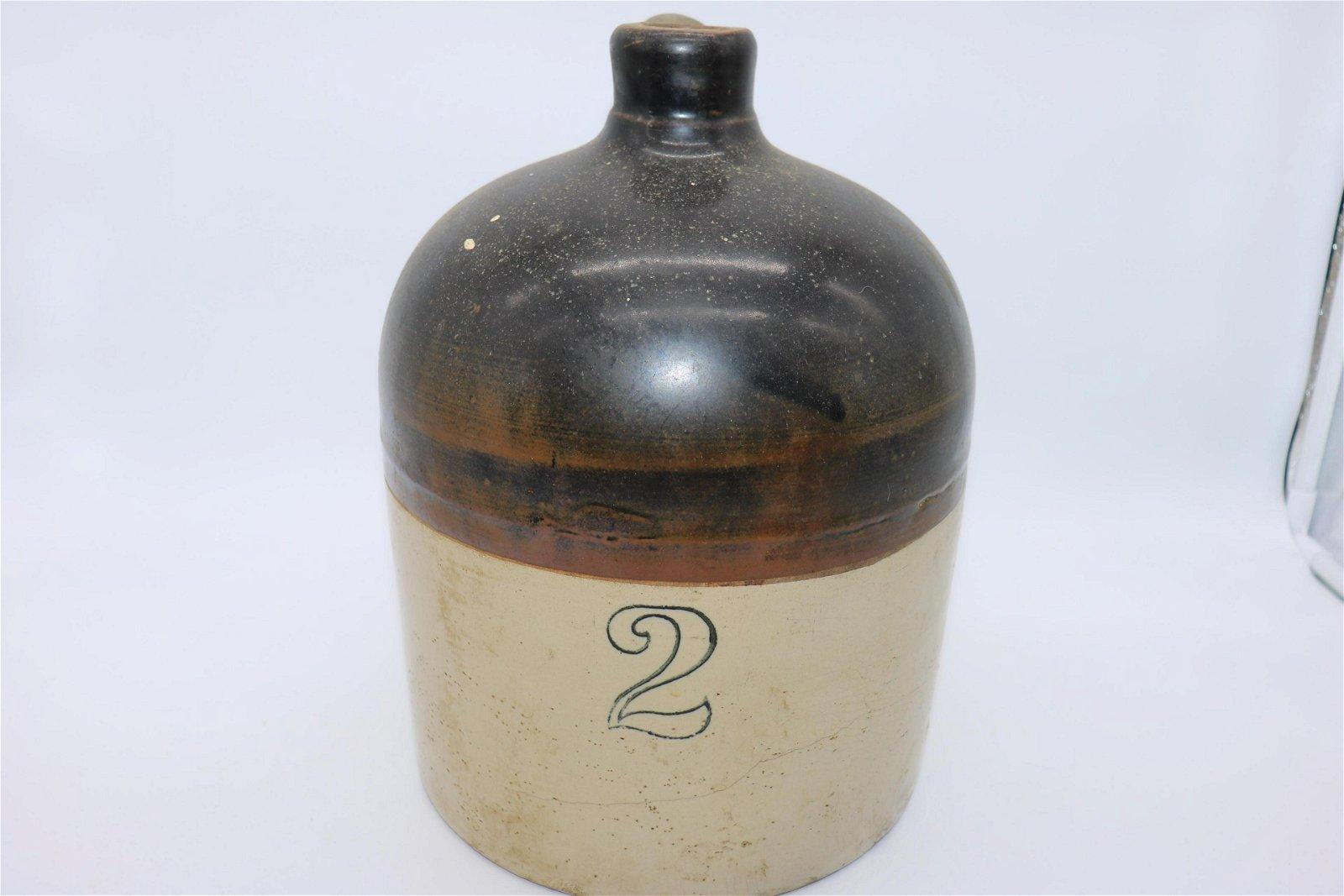 Antique 2-Gallon Stoneware Jug