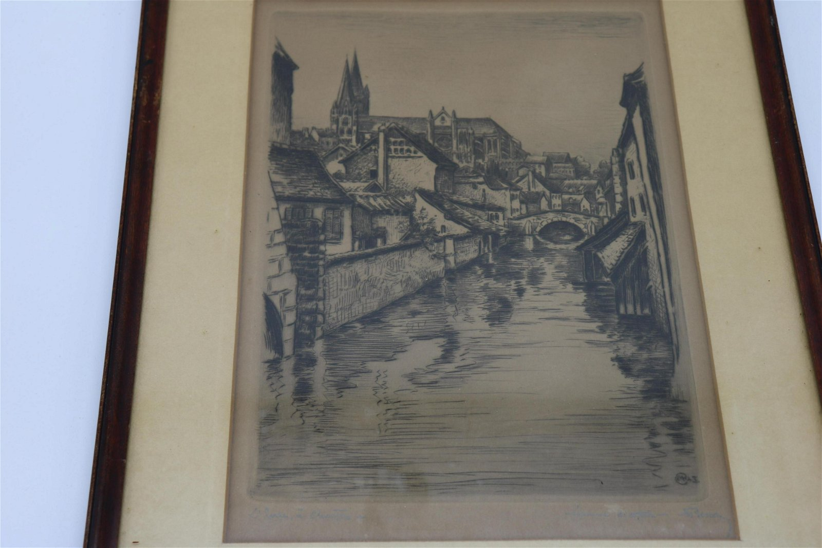 Antique Signed Engraving