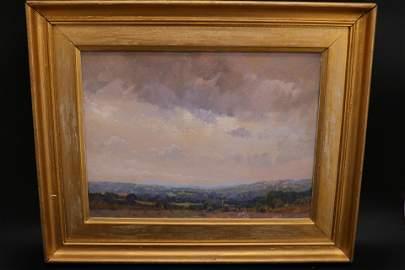Landscape Watercolor, H. A. Dyer, Hezekiah Anthony Dyer