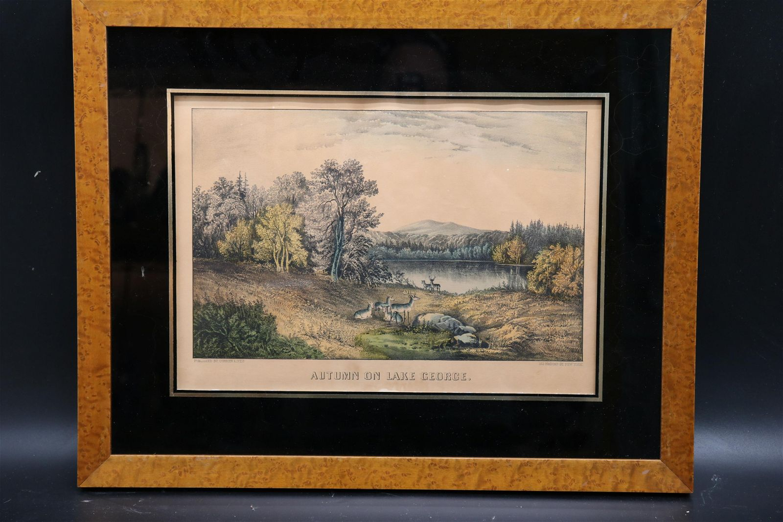 """Currier & Ives, """"Autumn on Lake George"""""""