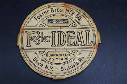 Old FOSTER MASTER IDEAL SPRING Tin Sign