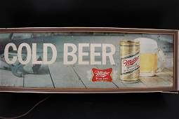 Vintage Miller Beer Bar Light