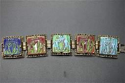Vintage Egyptian Style Tile Bracelet