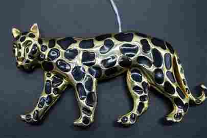 Vintage Dotty Smith Leopard Belt Buckle
