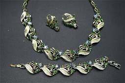 Vintage Necklace, Bracelet & Earring Set with
