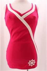 Vintage SEARS Ladies Hot Pink 1950's Swimsuit
