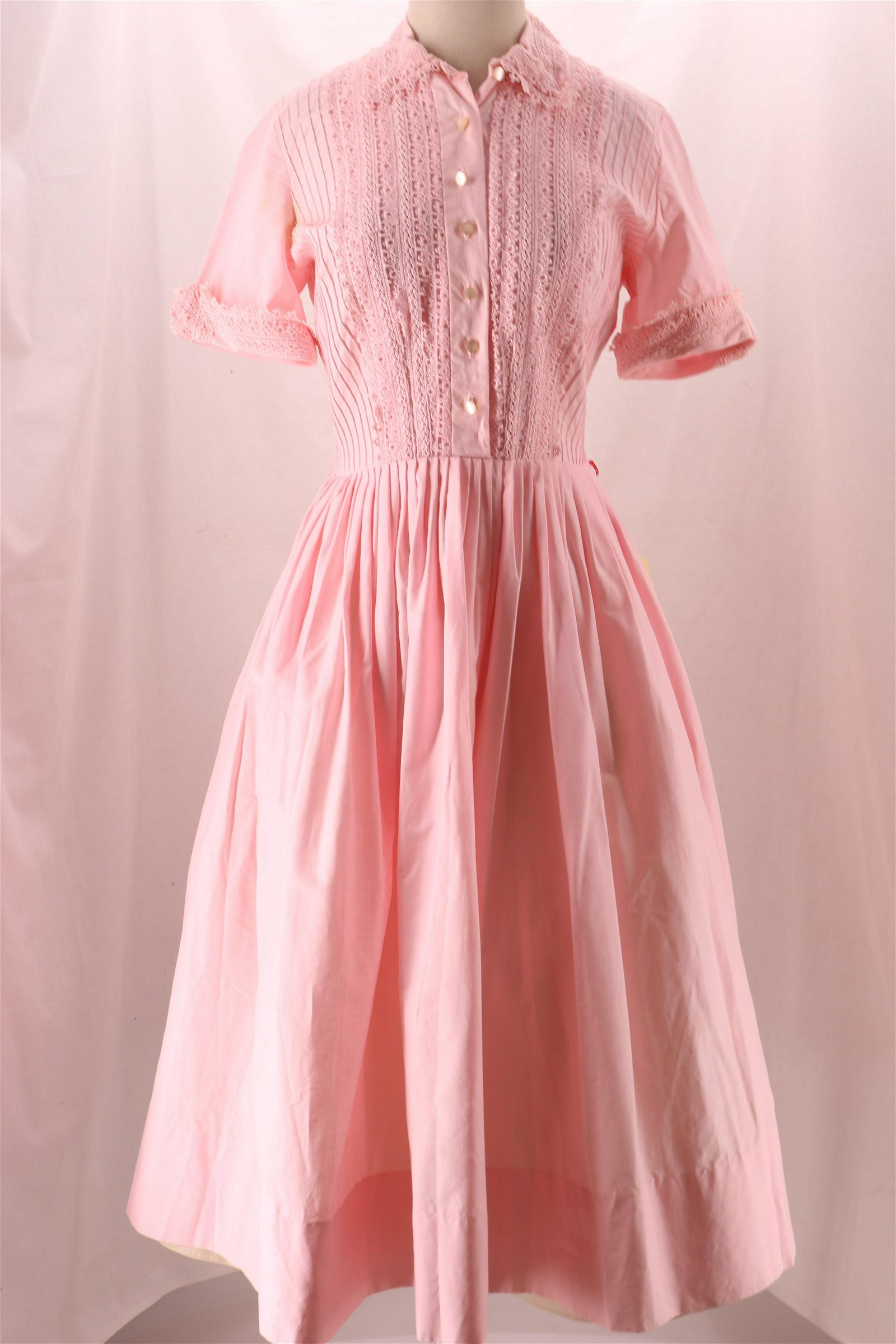 Vintage Henry Rosenfeld Cotton Pink Dress New With