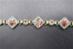 Vintage Micro Mosaic Tile Tennis Bracelet