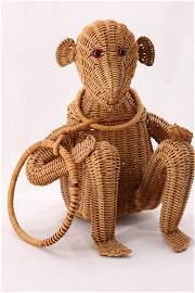 Large Vintage Wicker Monkey Purse