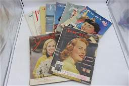 Lot of 9 Vintage Ladies Home Journal, 1950's