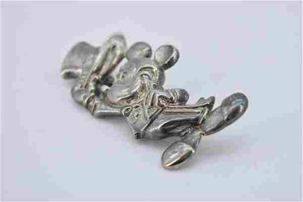 Vintage Mickey Mouse with Top Hat Brooch
