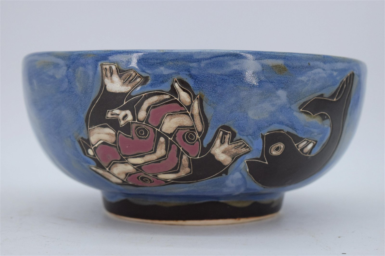 Hand Painted Pottery Bowl Designed by Maria