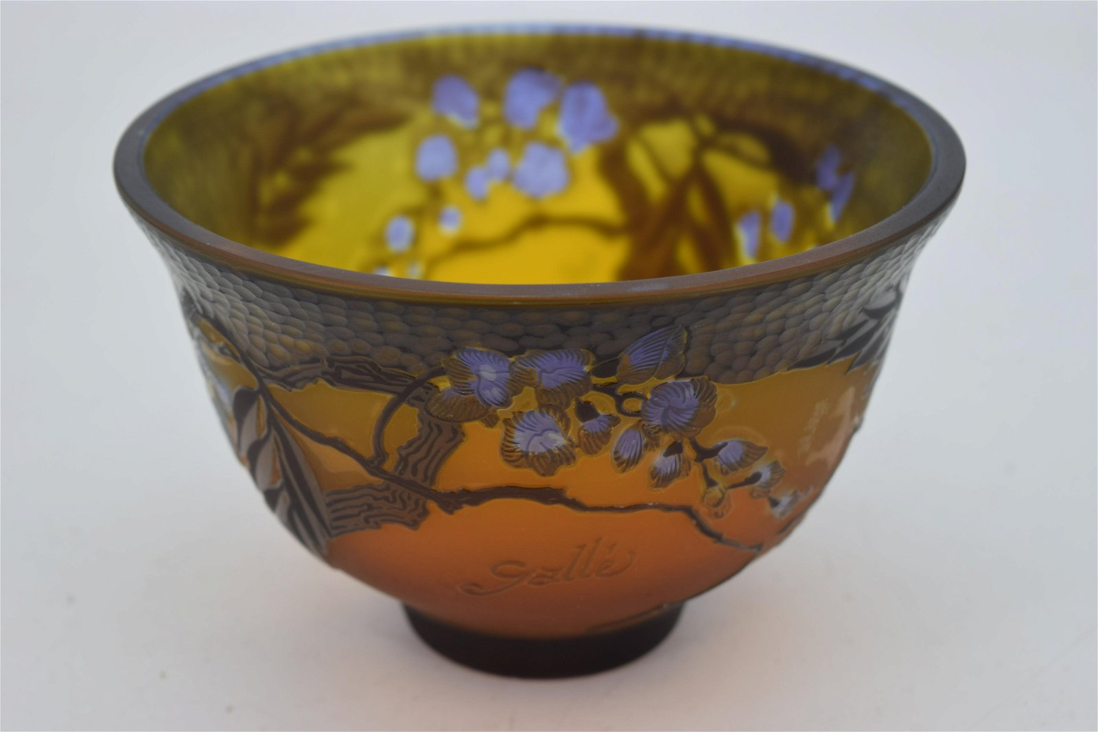 Emile Galle Cameo Art Glass Bowl