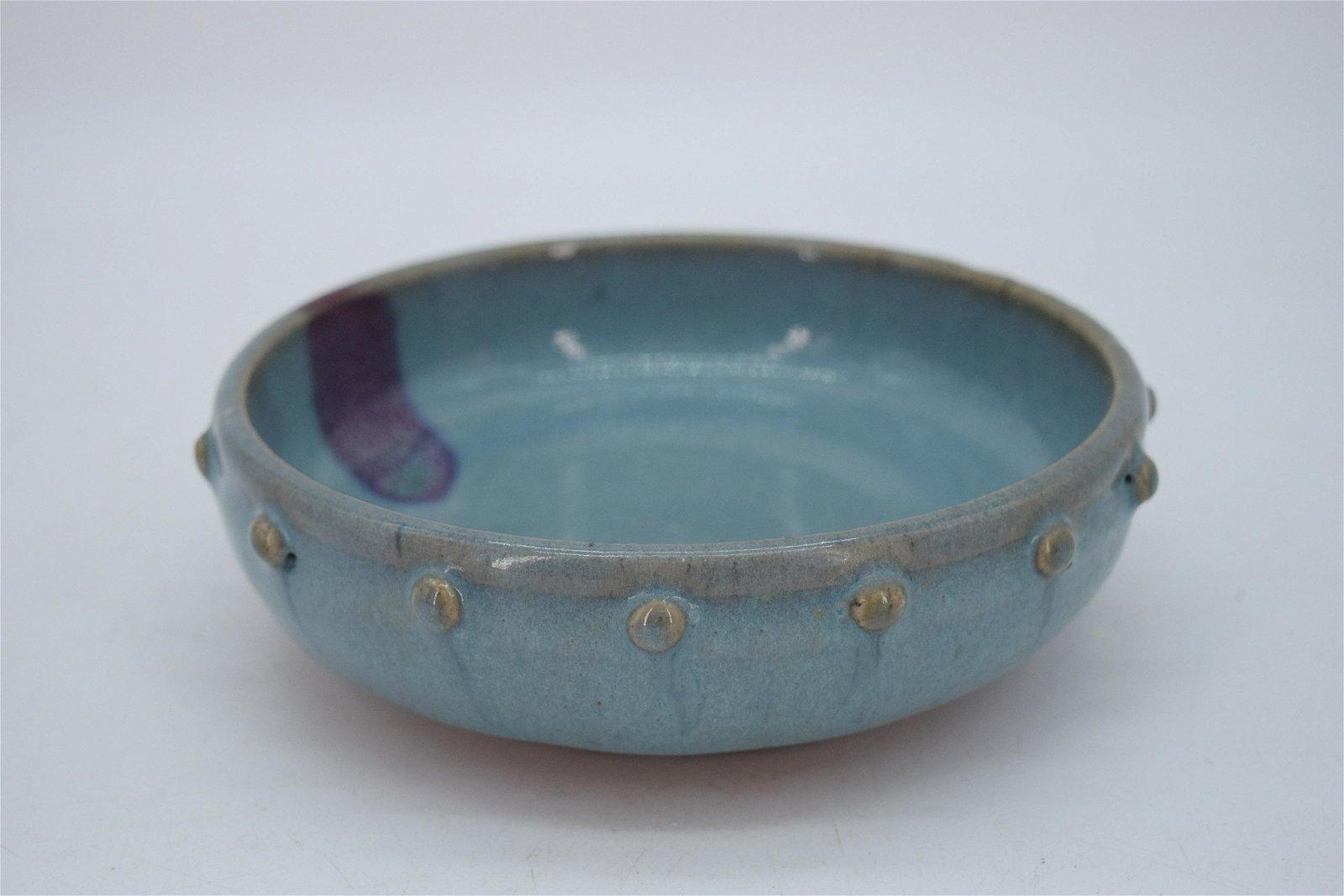 Chinese Song Dynasty Style Junyao Kiln Sky Blue Bowl