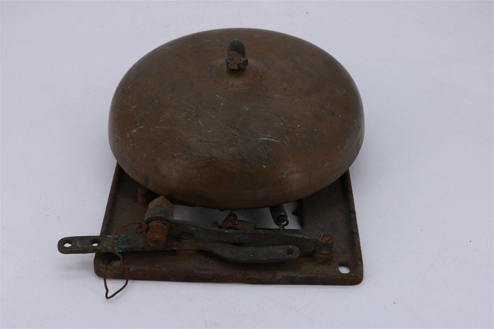 Antique Fire Bell, Brass/Bronze