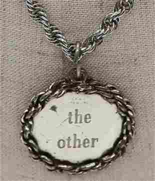 "Vintage BEAU Sterling Necklace & Pendant, ""The Other"""