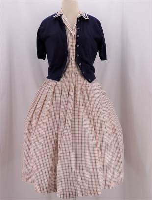 Vintage 1950's SERBIN  Dress & Sweater Set