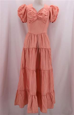 Vintage 1940's Pink Taffata  Sweet Heart Gown