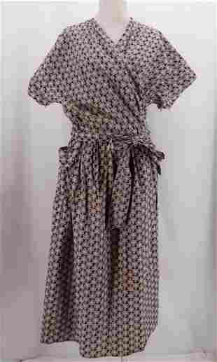 Vintage 1950's Cotton Wrap Dress