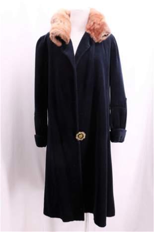 Vintage 1920's Wool & Fur Coat by Conde'