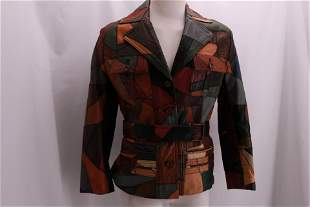 Vintage 1970's Funky Leather Patchwork Men's Jacket
