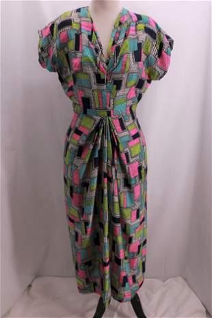 Vintage 1940's Silk Dress