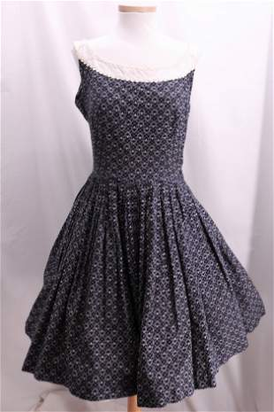 Vintage 1950's Summer Cotton Dress by MAGGI