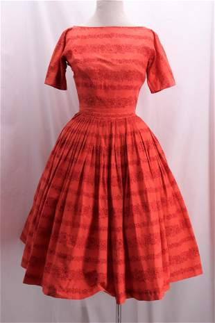 Vintage 1950's Cotton Summer Dress by L'AIGLON