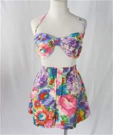 Vintage 1960/70's Sun Club Catalina Ladies Play Suit