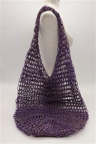 Vintage Purple Rope Woven Bag
