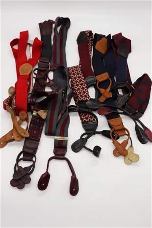 Lot of 6 Pair Vintage Men's Suspenders