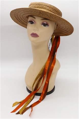Vintage Wicker Ladies Summer Hat