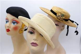 Lot of 3 Vintage Ladies Hats