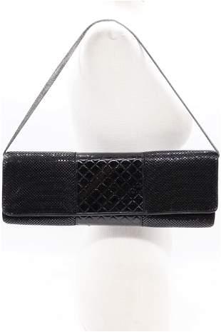 Vintage Whiting & Davis Mesh & Pattern Leather Purse