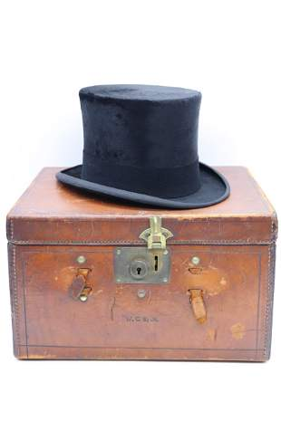 Antique Beaver Skin Top Hat, BROOKS BROTHERS