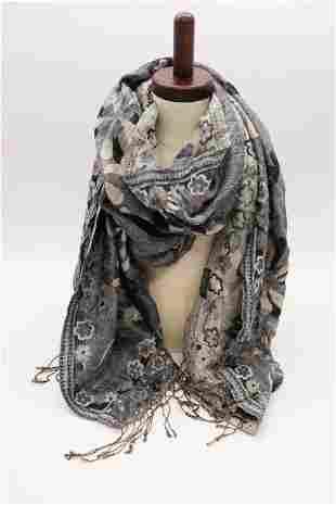 Vintage Silk Shawl
