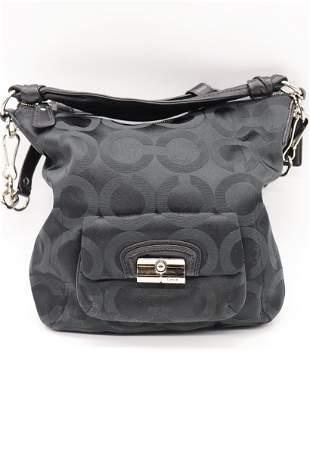 Vintage Black Coach Shoulder Bag, No. H1082-14753