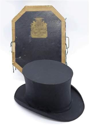 Victorian Folding Top Hat, Rogers Peet & Company