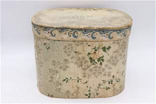 Victorian Wall Papered Hat Box