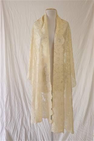 Vintage Silk Lace Shawl