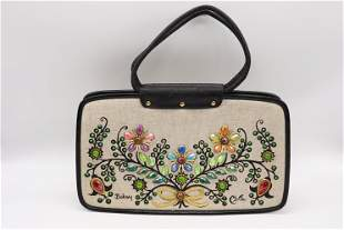 Vintage 1960's ENID COLLINS Beaded Arm Bag Purse