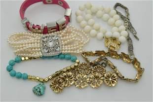 A lot of seven bracelets.