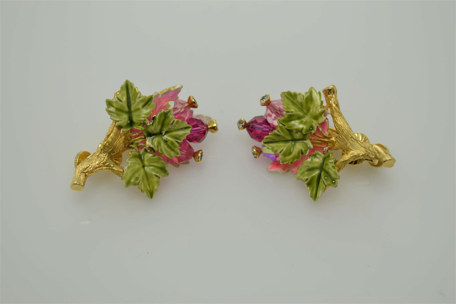 A vintage pair of clip on earrings marked Vendome.