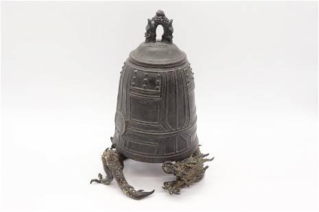 Antique Bronze Dragon Covered Jar