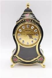 Vintage Bucherer Hand Painted Mantel Clock