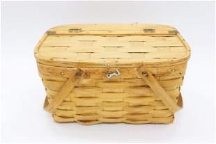 Rindge Baskets, Inc. Small Oak Splint Picnic Basket