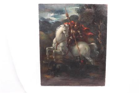 """ANTONIOS POLYKANDRIOTIS, Oil on Canvas """"Juliet"""" 1933"""
