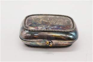Antique Victorian Silver Travel Soap Dish/Container